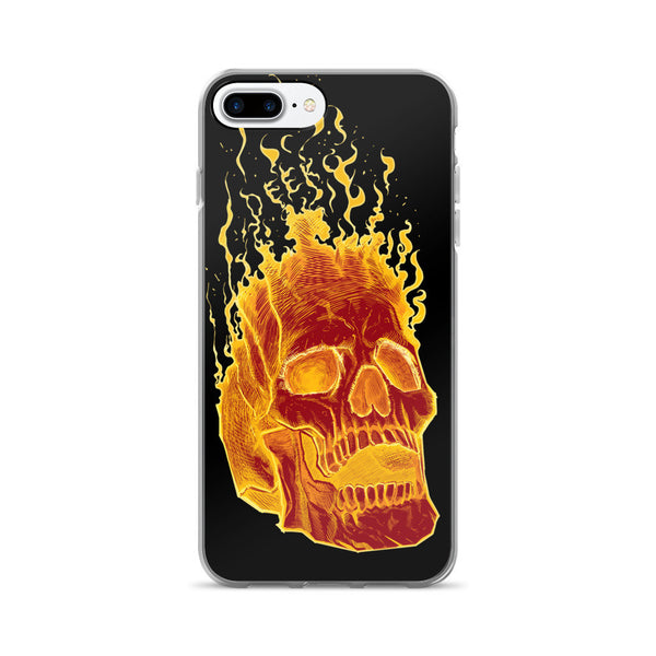 Charon the Flaming Skull iPhone 7/7 Plus Case - Deeko