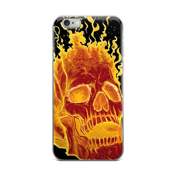 Charon the Flaming Skull iPhone case