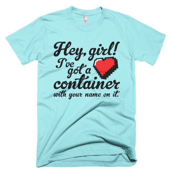 Hey Girl Heart Container T-Shirt - Deeko - 5