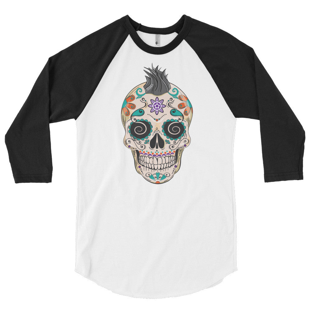 Felix the Sugar Skull 3/4 Sleeve Raglan Shirt