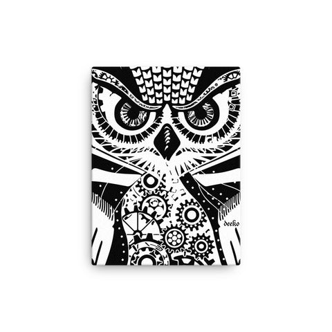 Eldwin the Owl Gallery Canvas Print - Deeko