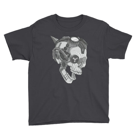 Melvin the Steam Punk Skull Youth Short Sleeve T-Shirt