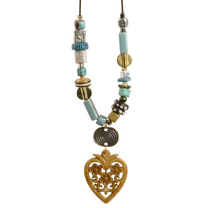 Mixed-Bohemian Heart Necklace