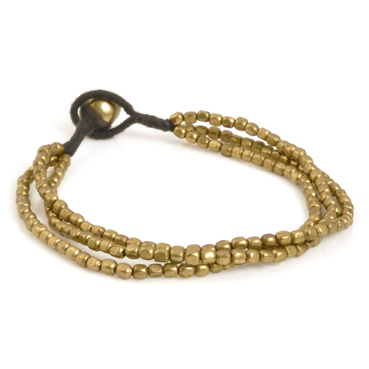 Brass Beaded Bracelet