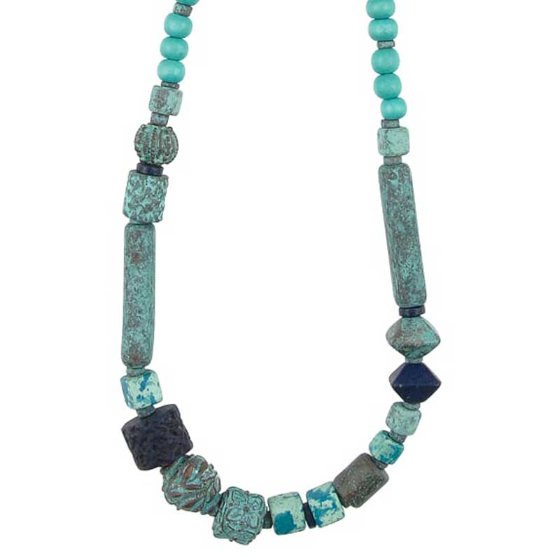 Mixed-Handmade Jewelry-Viridian Vibrance Necklace