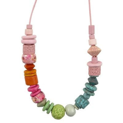 Mixed-Color Palette Necklace-20 Inches