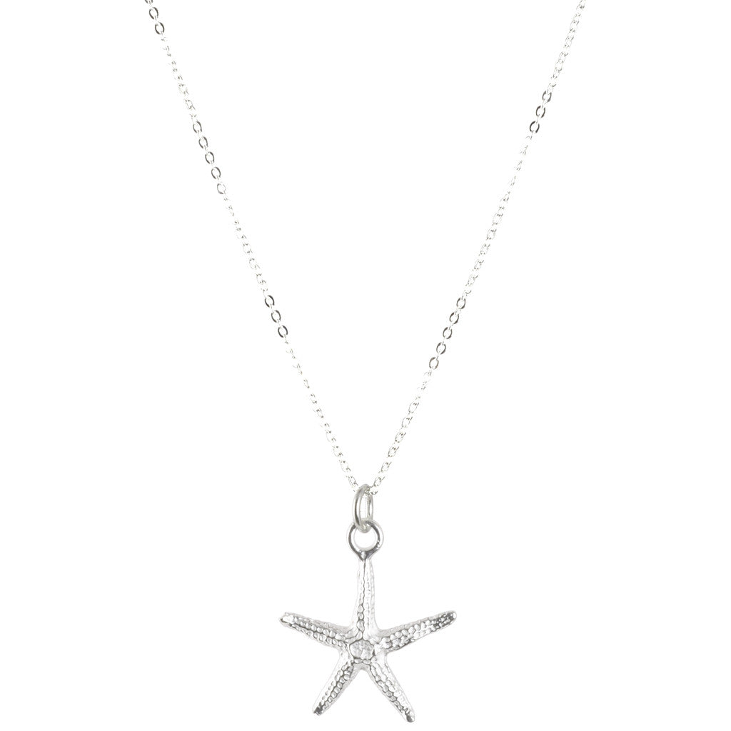Starfish Silver Charm Necklace Handmade Jewelry Focal Camilla Blue