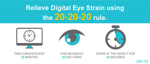 Does the 20-20-20 rule help prevent eye strain?