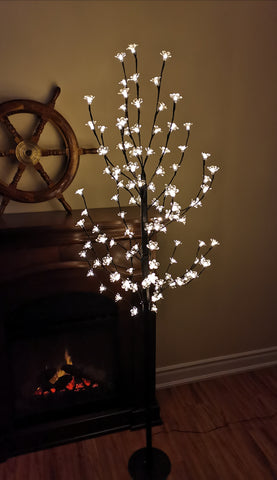 75'' Pre-Lit Cherry Blossom Tree LED Lighted Tree With 120 Flower Lights