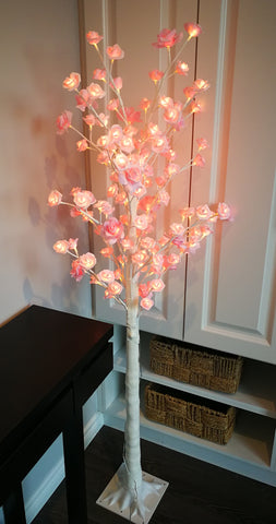 Lighted pink rose tree  L - IDEC Sense