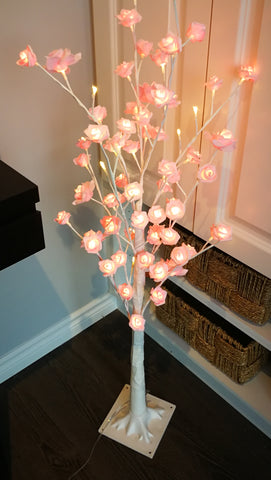 Lighted pink rose tree  S - IDEC Sense