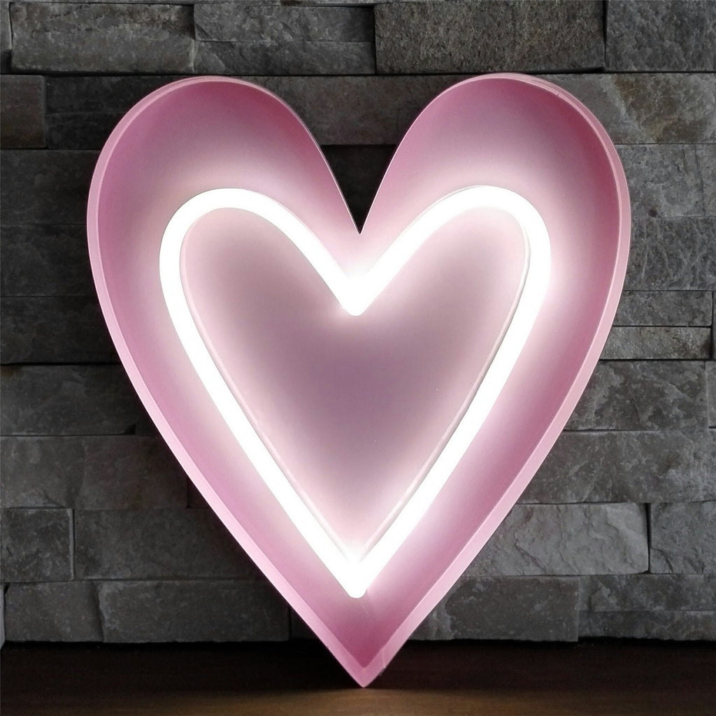 "Tube ""heart"" with Pink metal frame - IDEC Sense"