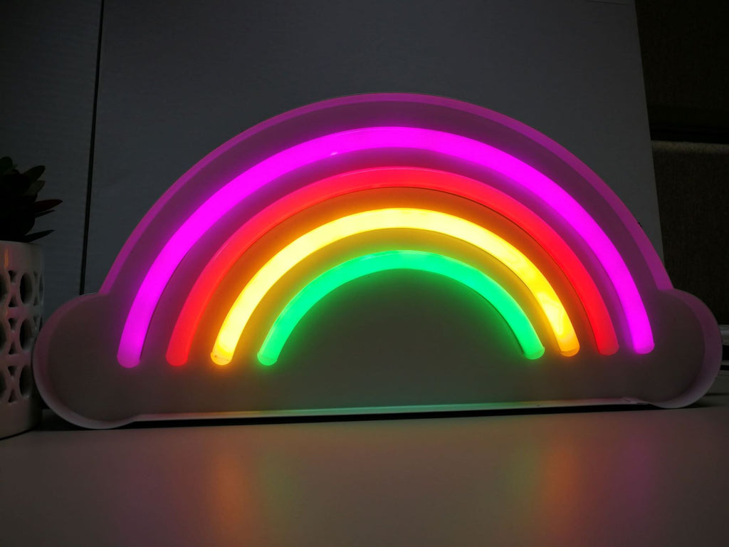Tube Multi-color rainbow lights with White metal frame - IDEC Sense