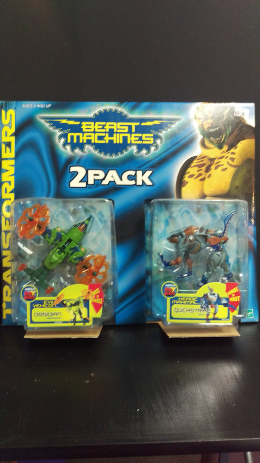 TRANSFORMERS BEAST MACHINES OBSIOIAN AND QUICKSTRIKE 2 PACK