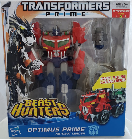 TRANSFORMERS PRIME BEAST HUNTERS OPTIMUS PRIME VOYAGER CLASS