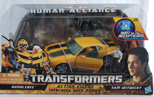 TRANSFORMERS HUMAN ALLIANCE BUMBLEBEE AND SAM WITWICKY