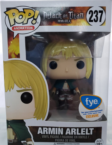 FUNKO POP ATTACK ON TITAN ARMIN ARLELT #237