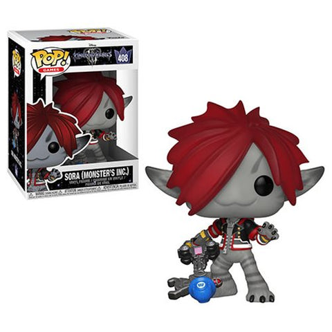 FUNKO POP KINGDOM HEARTS 3 SORA MONSTER'S INC. VINYL FIGURE #408