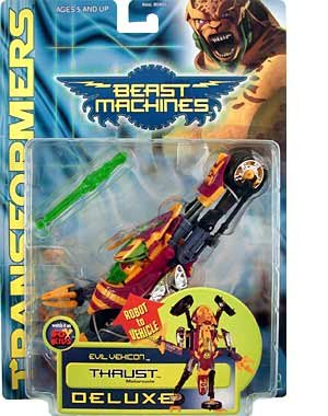 TRANSFORMERS BEAST MACHINES THRUST DELUXE