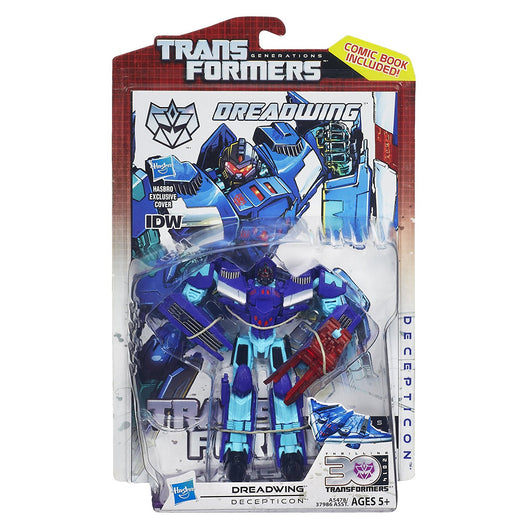 TRANSFORMERS GENERATIONS DELUXE DREADWING WITH COMIC BOOK