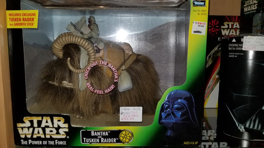 STAR WARS POWER OF THE FORCE 2 BANTHA AND TUSKEN RAIDER
