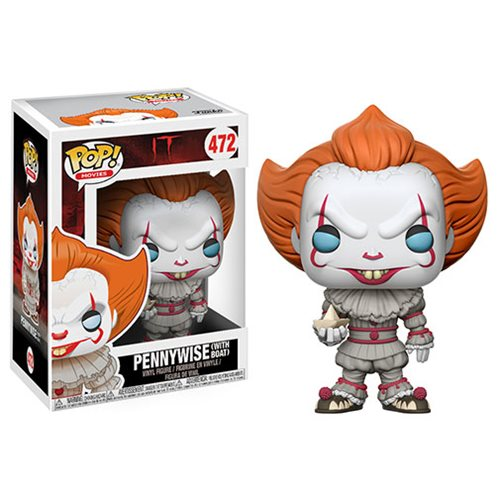 FUNKO POP IT PENNYWISE CLOWN WITH BOAT VINYL FIGURE #472