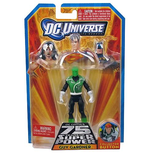 DC UNIVERSE GUY GARDNER WITH COLLECTOR BUTTON