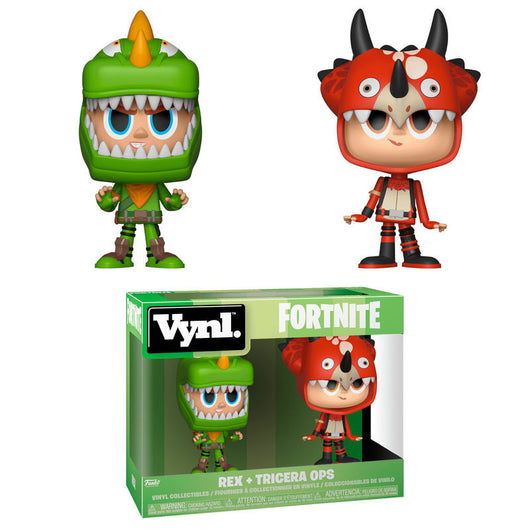 FUNKO POP FORTNITE REX AND TRICERA OPS VINYL FIGURE 2-PACK
