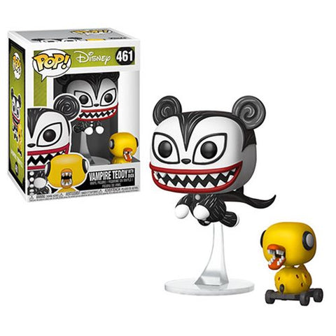 FUNKO POP NIGHTMARE BEFORE CHRISTMAS VAMPIRE TEDDY WITH UNDEAD DUCK VINYL FIGURE #461