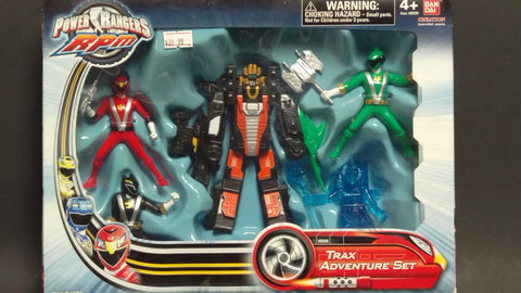 POWER RANGERS RPM TRAX ADVENTURE SET