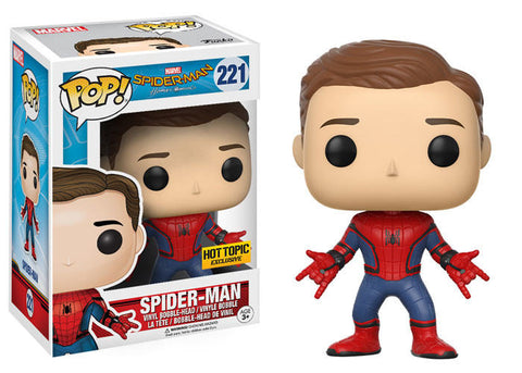 FUNKO POP SPIDER MAN #221 HOT TOPIC EXCLUSIVE