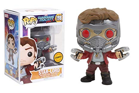 FUNKO POP GUARDIANS OF THE GALAXY VOL 2 STAR LORD #198 LIMITED CHASE EDITION