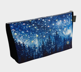 """Grand Galaxy"" Zipper Makeup / Travel Bag, Forest Night Stars Art by artist © Christie Marie"