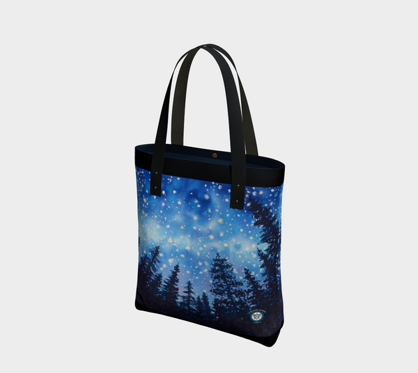 """Sierra Stars ~ Camp""  Tote Bag / Purse, Camping Night Stars Art by artist © Christie Marie"