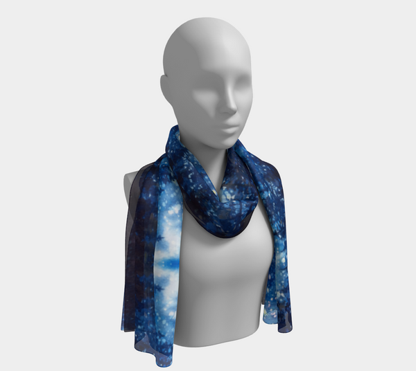 """Grand Galaxy"" Fine Art Long Scarf, Alpine Forest Night Stars by artist © Christie Marie"