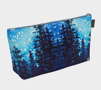 Star Dust # 2 Makeup / Travel Bag / Clutch, Trees n Night Stars by artist © Christie Marie