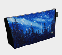 """Chandelier of Stars"" Zipper Makeup / Travel Bag / Clutch, Night Stars art by artist © Christie Marie"