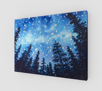 """Sierra Stars ~ Camp"" Fine Art Canvas Print, Mountain Camping Night Stars Art by artist © Christie Marie"