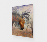 """Hugs"" Fine Art Acrylic Print, Horse Affection art by artist © Christie Marie"