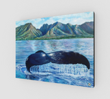 """Sanctuary"" Fine Art Canvas Print, Hawaiian Humpback Whale Ocean Art by Artist © Christie Marie"
