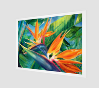 """Tropical Paradise"" Archival Fine Art Print, Hawaiian Bird of Paradise flower art by artist © Christie Marie"