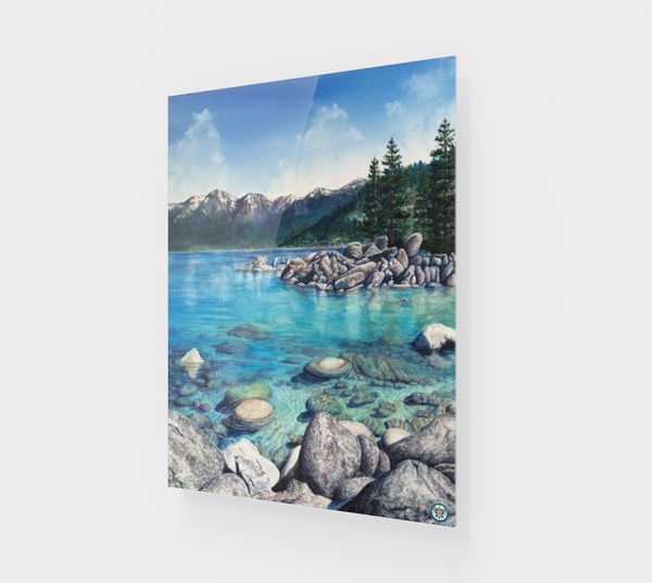 """Clear Awakening"" Fine Art Acrylic Print, Sand Harbor, Lake Tahoe by Artist Christie Marie ©"