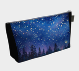 "Sierra Stars~ Pink"" Zipper Makeup Bag, Clutch, Night Stars Art by artist © Christie Marie"