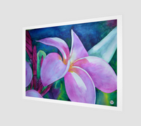 """Blooming"" Fine Art Art Print, Plumeria / Frangipani Tropical Flower Art by artist © Christie Marie"
