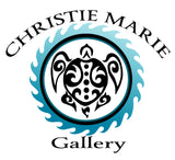"""Honu Waters"" Square Scarf, Tribal Sea Turtle, turquoise water art by artist Christie Marie ©"
