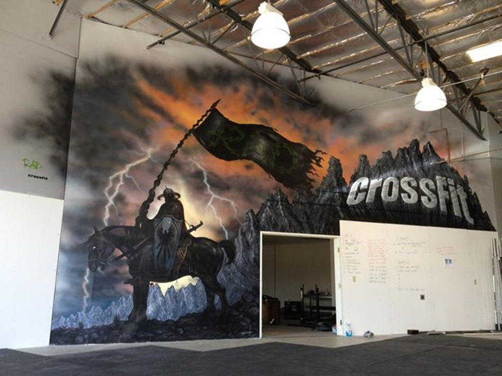 2012 Crossfit Mural Christie Marie Art