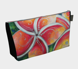 Tropical Spirit~ Makeup / Travel Bag / Clutch, Hawaiian Plumeria by artist © Christie Marie