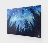 """Sierra Stars ~ Camp"" Fine Art Acrylic Print, Mountain Camping Night Stars Art by artist © Christie Marie"