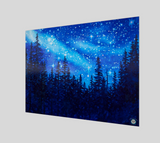 """Chandelier of Stars"" Fine Art Poster Print, Forest Night Stars by artist © Christie Marie"