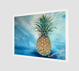 """Welcome"" Archival Fine Art Print, Tropical Pineapple art by artist © Christie Marie"